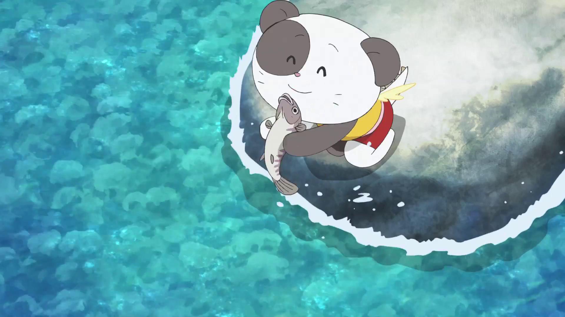 Chibi Panda Catches Fish