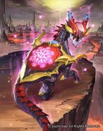 Retainer of the Demonic Dragon, Abyss Shield Dragon Art