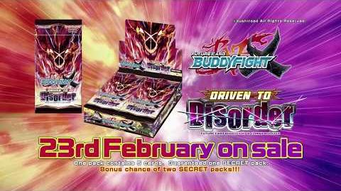 Future Card Buddyfight X Climax Booster Driven to Disorder