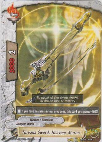 Nirvana sword heavens marius