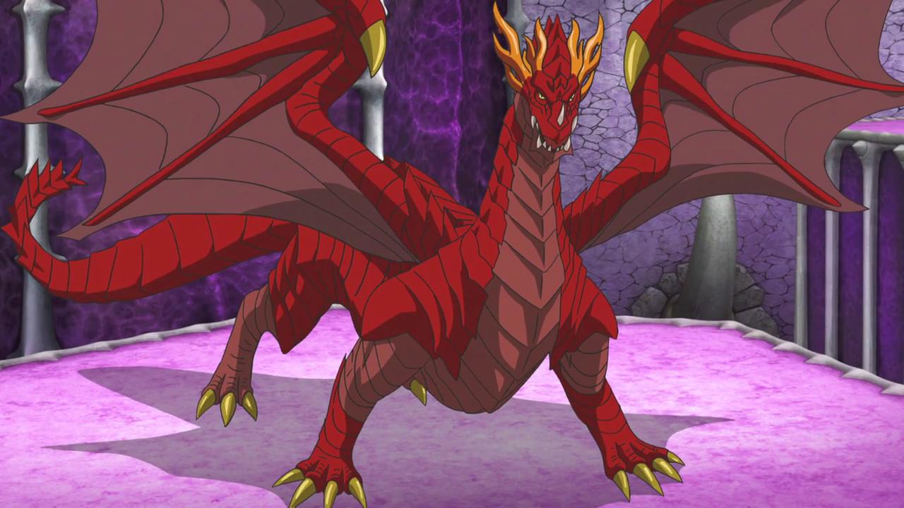 anime red dragon
