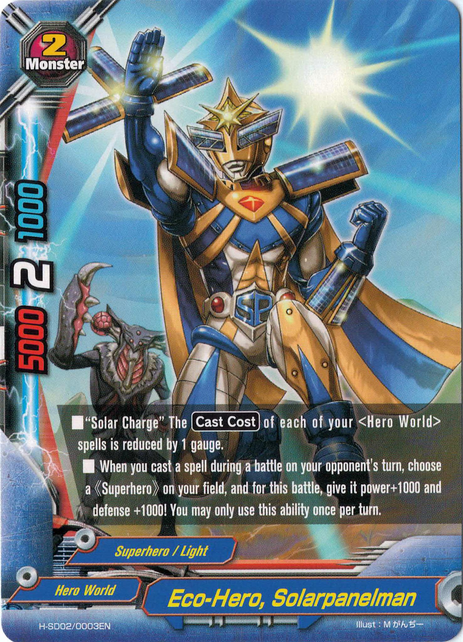 Eco Hero Solarpanelman Gallery Future Card Buddyfight