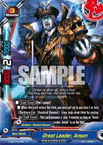 Anson R H-EB03//0029EN Buddyfight 1x Great Leader