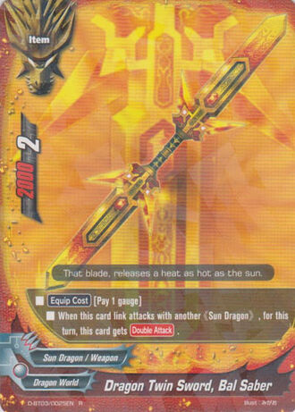 Dragon twin sword bal saber