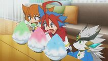 Shaved Ice eating contest