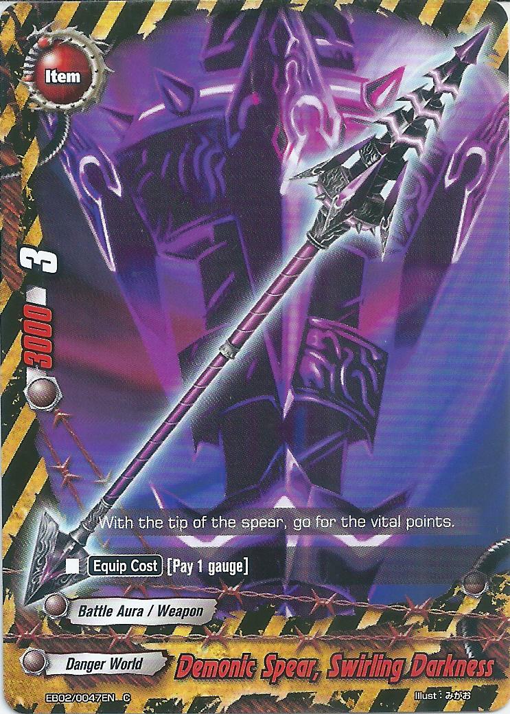 Demonic Spear Swirling Darkness Future Card Buddyfight Wiki