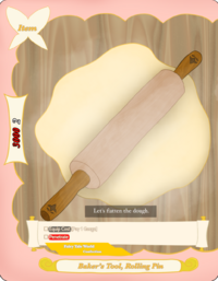 Baker's Tool, Rolling Pin Card Picture