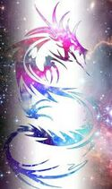 Galaxa dragon world flag