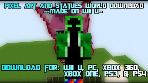 Video - Minecraft 1 12 PC - Pixel Art and Statues Map