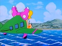 Pippa flying over the sea in Daydreams and Candy Floss
