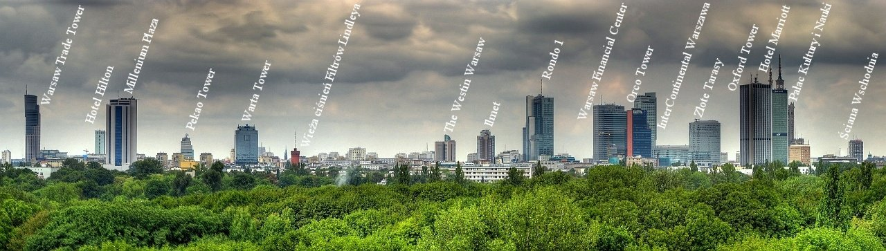 Warszawa-panorama wiezowcow