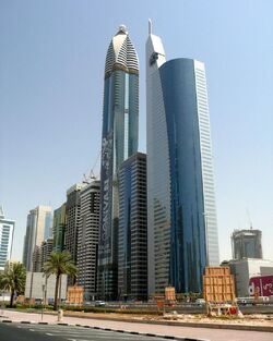 Rose Rotana Tower and 21st Century Tower on 14 September 2007