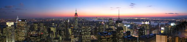 NYC Top of the Rock Pano