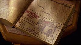 Magic box phonebook advertisement shadow
