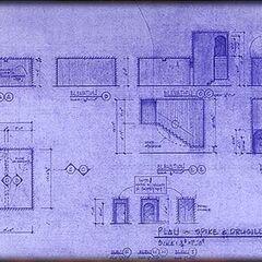 Plan de la chambre de Spike et Drusilla