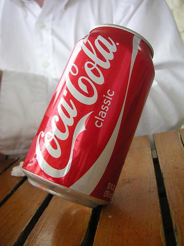 Balancing coke can