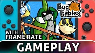 Bug Fables The Everlasting Sapling Nintendo Switch Gameplay & Frame Rate