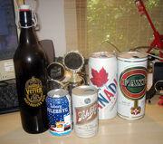 Some old beer empties