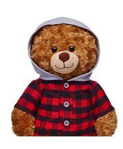 Red Plaid Flannel Hoodie 1