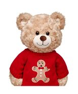 Red Gingerbread Man Sweater on Bear