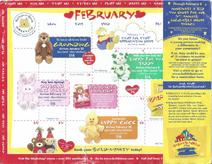 2008 February Calendar (Side 1 with Folded Extra)