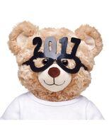 Black 2017 New Year Glasses on Bear