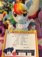 Build a bear rainbow dash by captianshelby-d6034p3