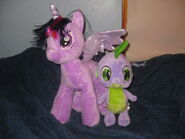 Build a bear twilight sparkle and spike by bramgroatonda-d6gg8zo