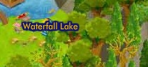 Waterfall Lake map