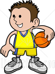 20755-Clipart-Illustration-Of-A-Happy-Boy-In-Uniform-Holding-A-Basketball-On-His-Hip