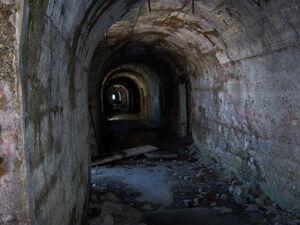 Interno galleria anteriore Chaberton