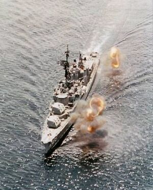 DD-729 shore bombardment 1969