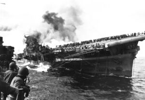 Attack on carrier USS Franklin 19 March 1945