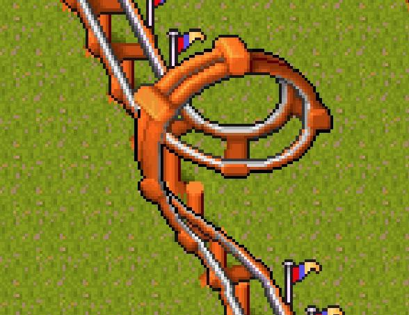 Theme park ride Cork Screw