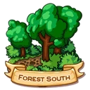 Location forest south icon