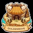 Location goldenwave icon