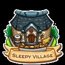 Location sleepy village icon