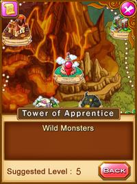 Location-tower of apprentice