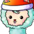 Sheepskins christmas icon