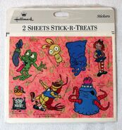 Vintage 1995 Bump in the night Hallmark Stickers Stick-R-Treats