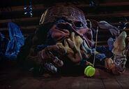 Closet monster making the yo yo go down