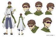 Motojiro Kajii Anime Character Design
