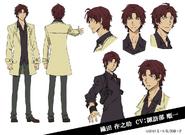 Sakunosuke Oda Anime Character Design
