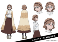 Louisa May Alcott Anime Character Design