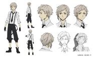 Atsushi Nakajima Anime Character Design