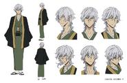 Yukichi Fukuzawa Anime Character Design