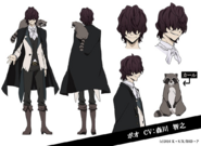 Edgar Allan Poe Anime Character Design