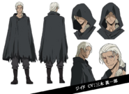 André Gide Anime Character Design