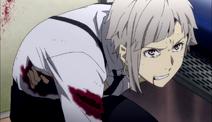 Atsushi bleeding after Demon Snow's attack