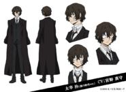 Osamu Dazai (Dark Era) Anime Character Design